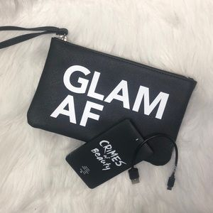 """Handbags - """"GLAM AF"""" WRISTLET WITH PORTABLE CHARGING DEVICE"""